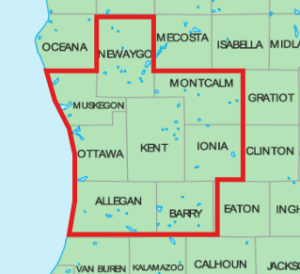 Map of eligible counties